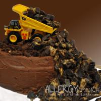 Allergy Free Dump Truck Birthday Cake