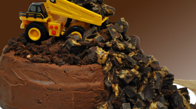 Allergy Free Dump Truck Birthday Cake