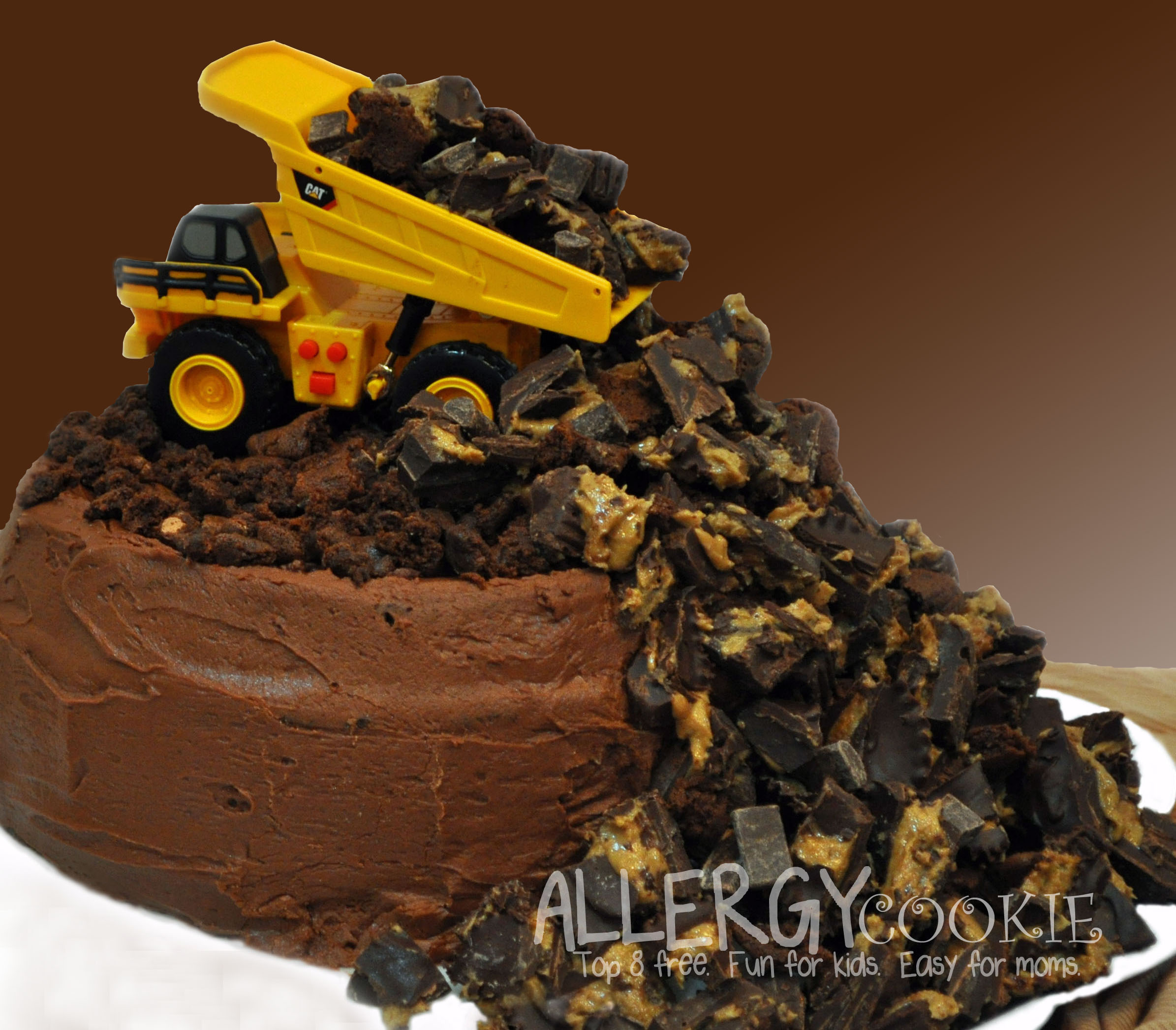 Allergy Free Dump Truck Birthday Cake Top 8 Free Gluten Free