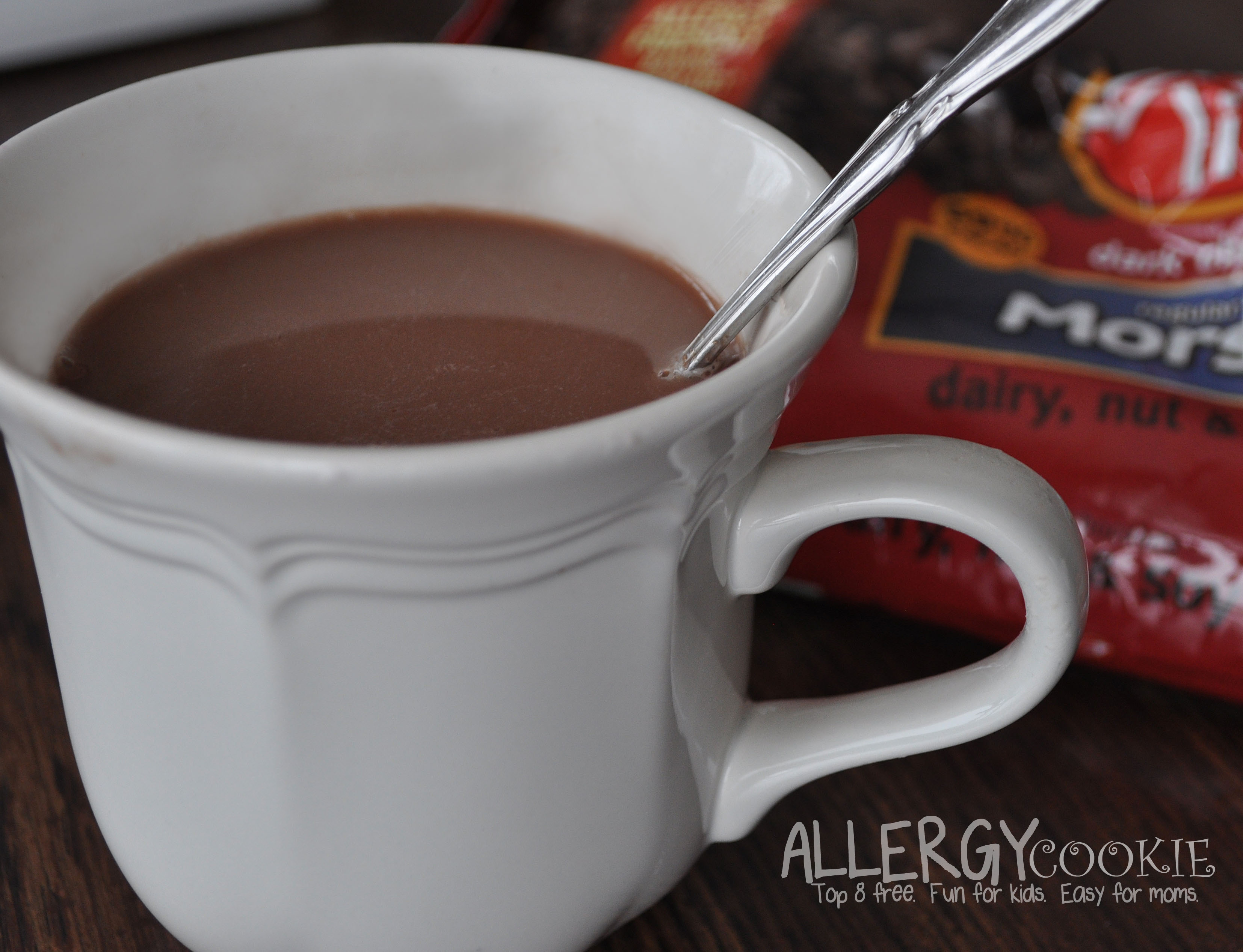 Creamy Allergy Free Hot Chocolate (top 8 free, vegan)