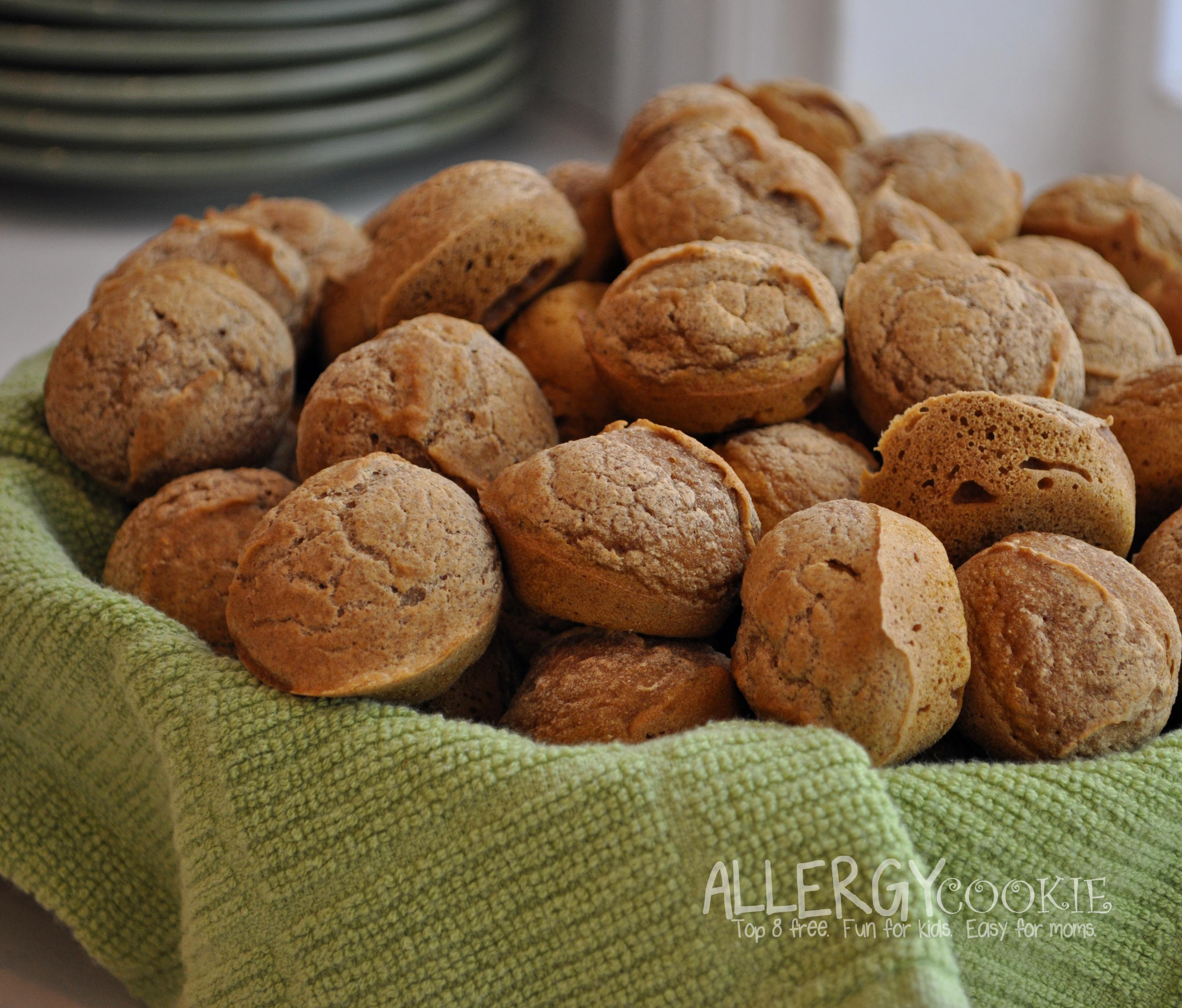 Mini Pumpkin Muffins (top 8 free, corn free, gluten free, vegan)