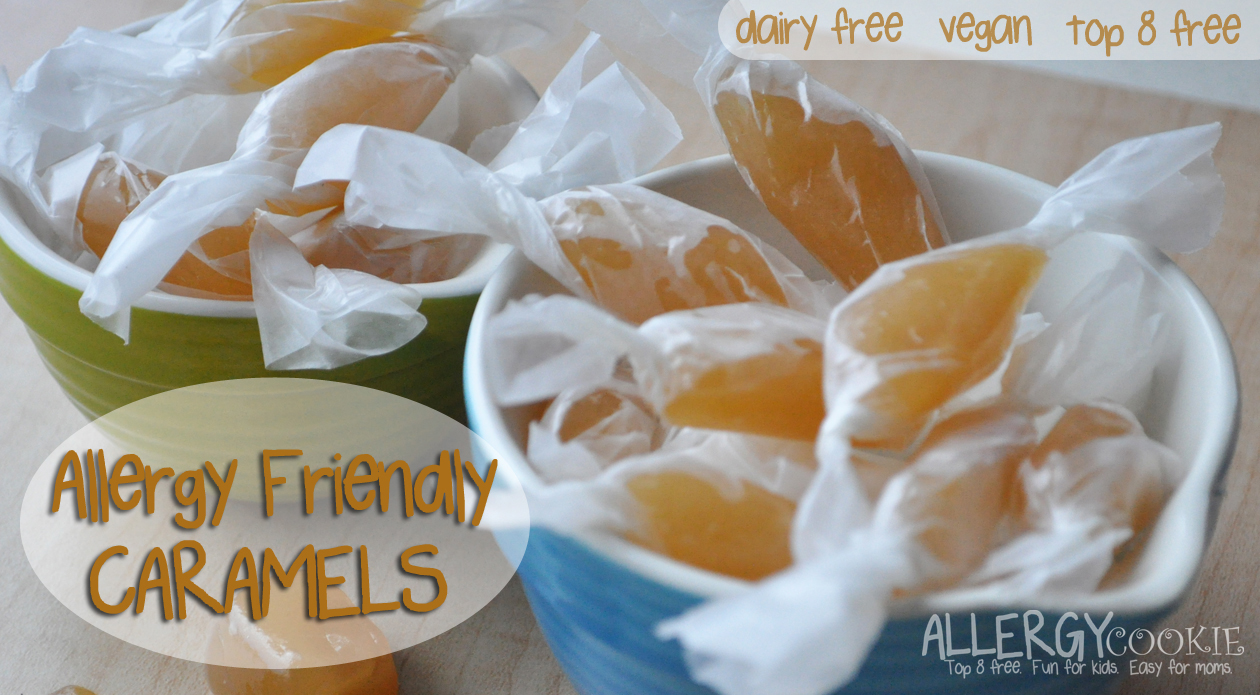 Homemade Caramels (dairy free, soy free, top 8 free)