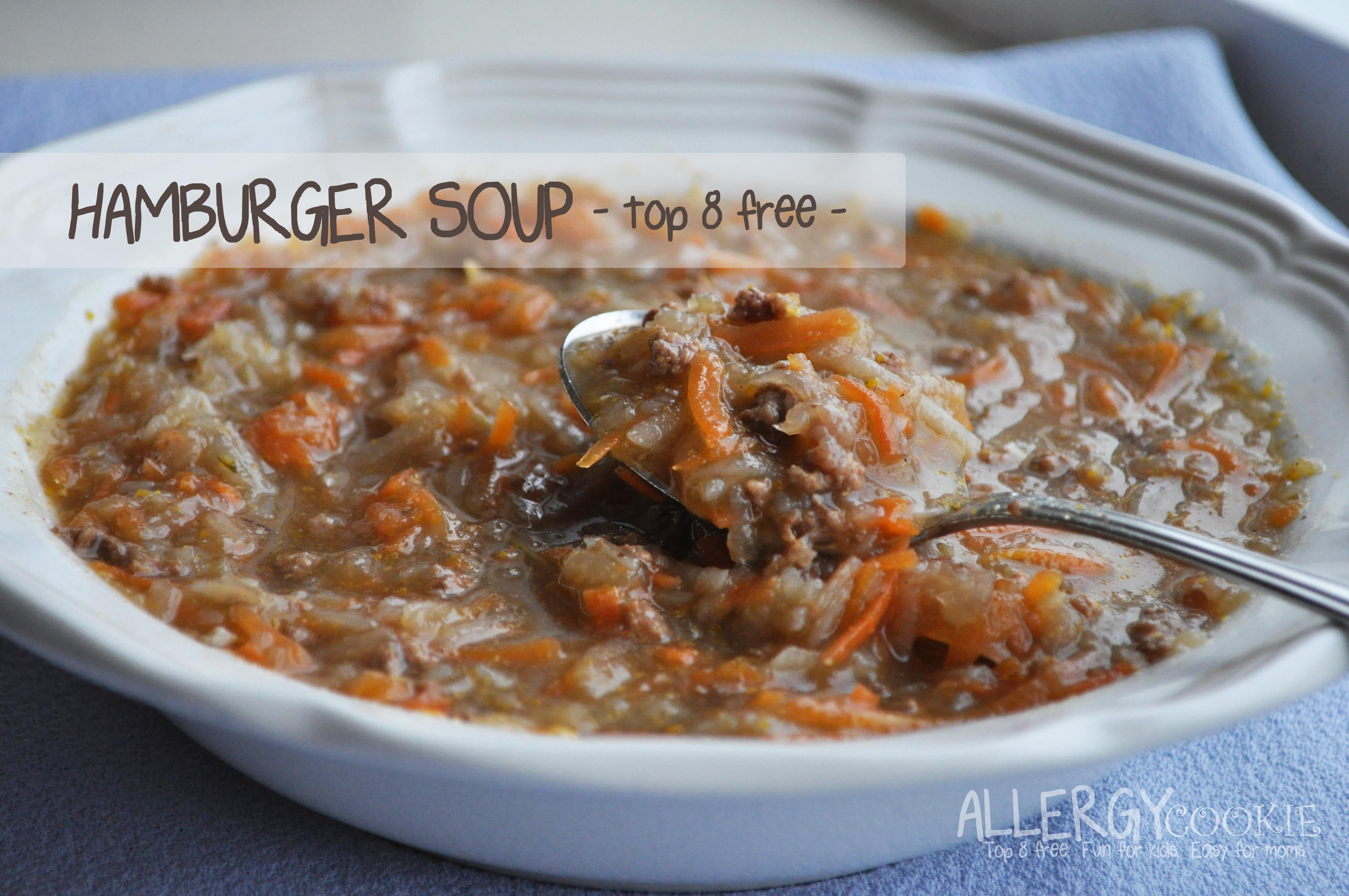 Savory Hamburger Soup (gluten free, dairy free, top 8 free)