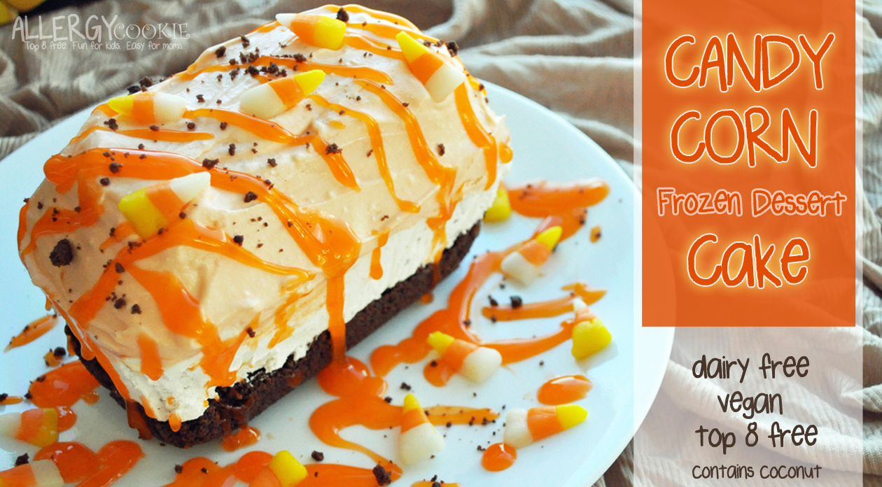 Candy Corn Frozen Dessert Cake and Giveaway