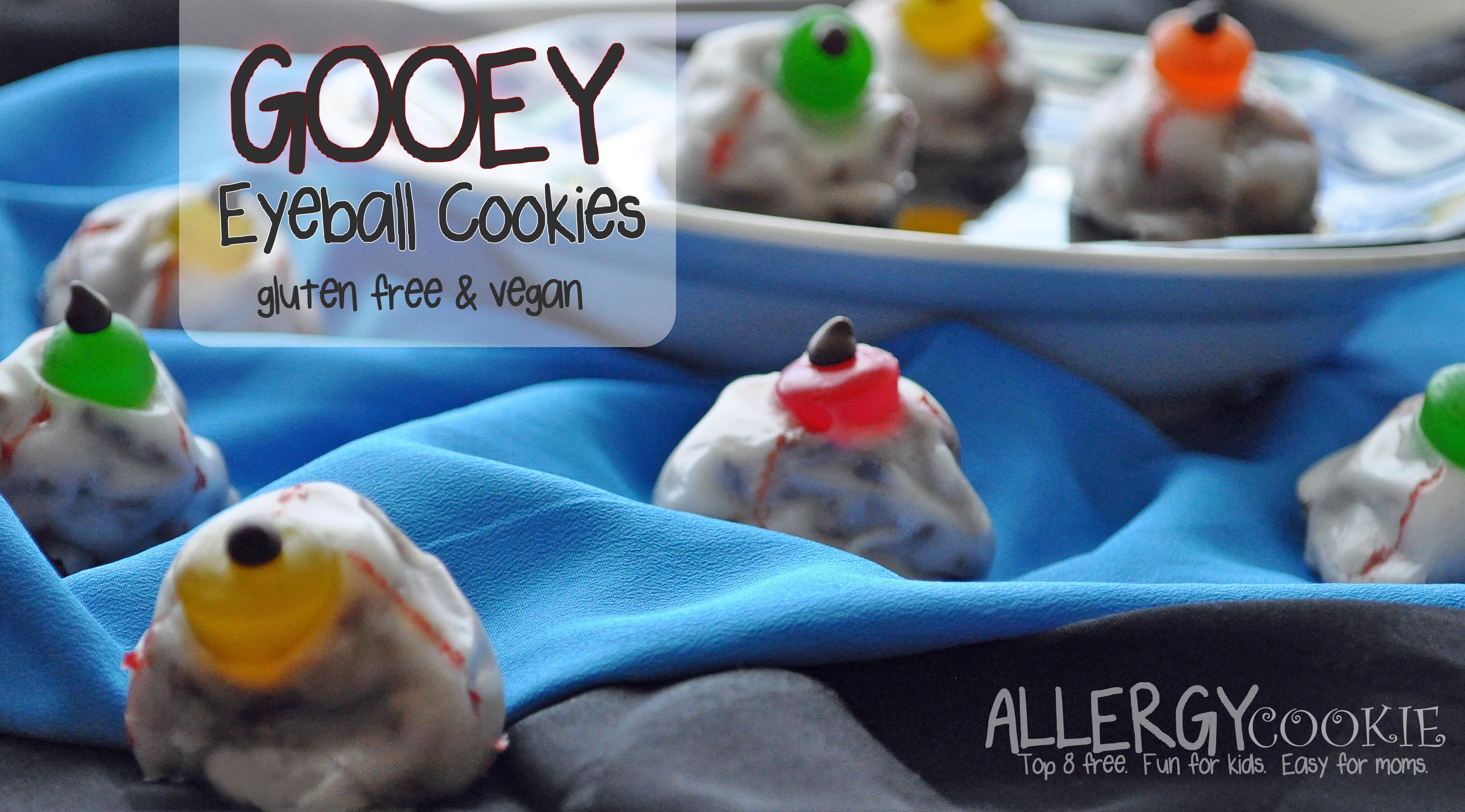 Gooey Eyeball Cookies (gluten free, vegan, top 8 free*)