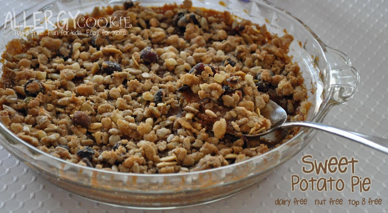 Sweet Potato Pie (nut free, vegan, gluten free)
