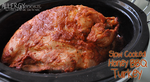 Slow Cooked Honey BBQ Turkey (gluten free, nut free, top 8 free)
