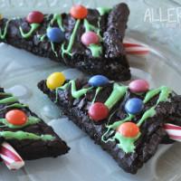 Quick Christmas Tree Brownies