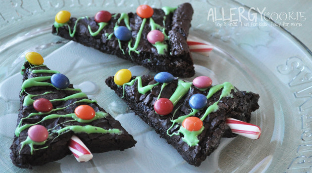 Quick Christmas Tree Brownies