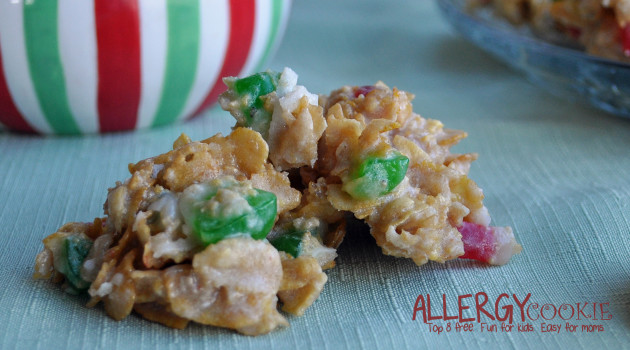 Holiday Fruitcake No Bake Cookies