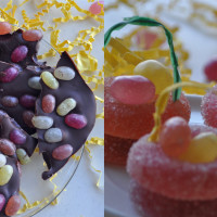 Jelly Bean Bark and Candy Easter Baskets {Organic & Top 8 Free}