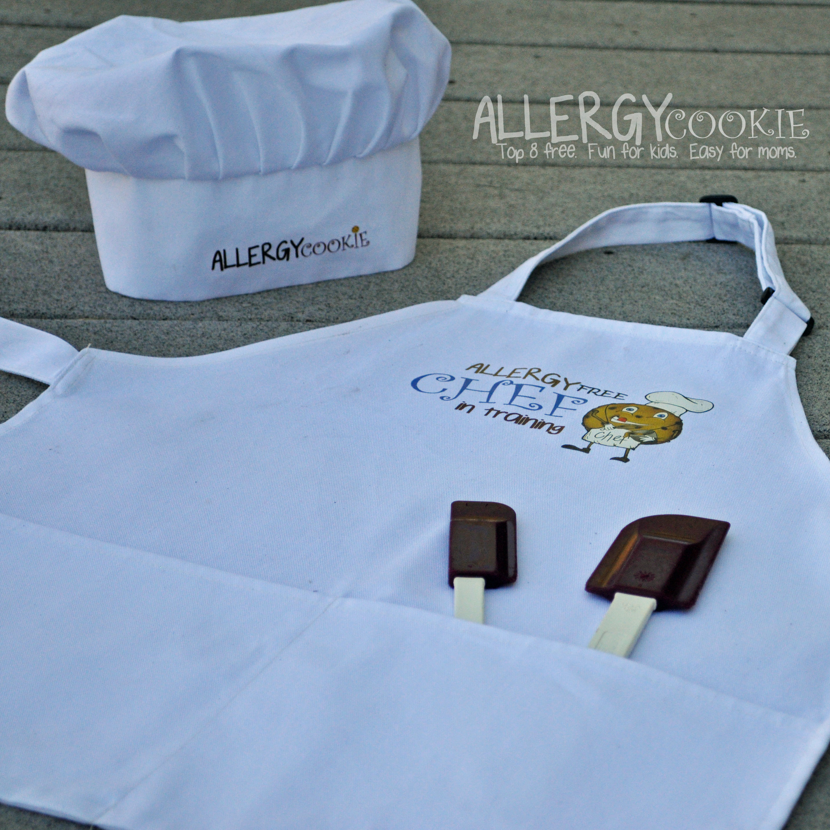 Allergy Cookie – Allergy Free Chef-In-Training Kid\'s Apron and Chef Hat