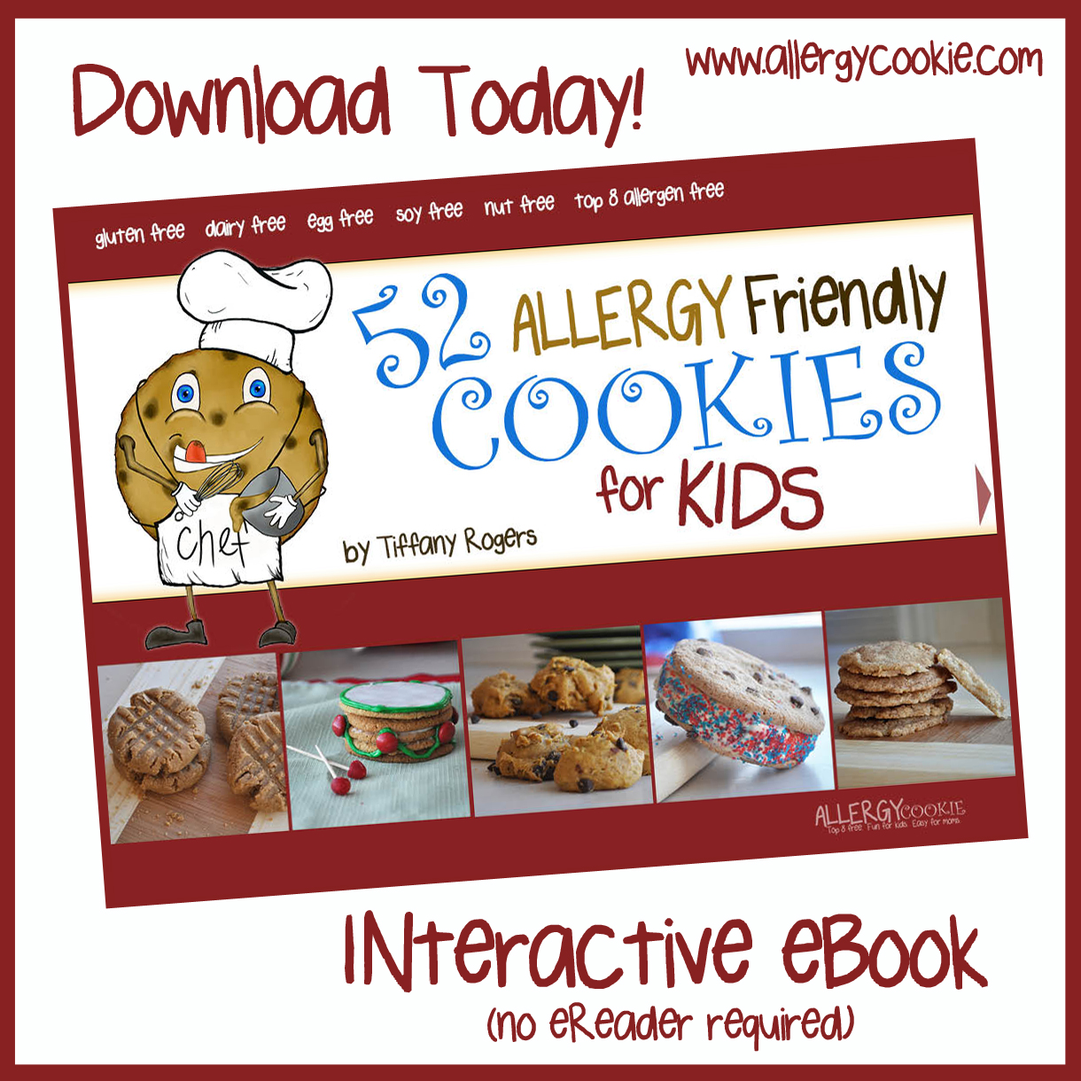 Allergy cookie ebook 52 allergy friendly cookies for kids 599 forumfinder Images